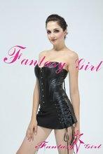 XXXL sexy leather corset sexy black latex corset hot dress sex girl