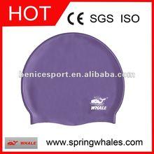 logo swim cap,purple swim caps,swim silicone cap