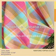 linen yarn dyed checks fabric for shirt