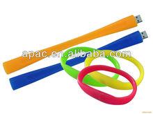 cheap silicone usb bracelet