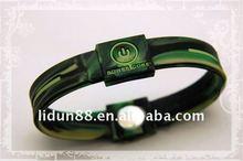 USA energy 100% silicone Bracelets/Wristbands with hologram