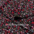 """64"""" wide polyester rayon blend daisy printed jersey fabric"""