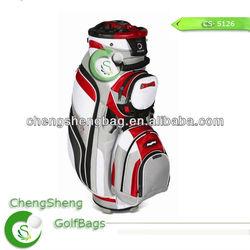 PU leather golf cart bag