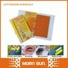 9pcs/set number plastic Letter Stencils