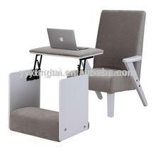 DEMNI Elegant compact cheap white wood computer desk