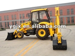 Mini backhoe loader WZL25-10C with 4 in 1 bucket and hammer