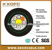 Outdoor double armor GYFTA53 6 core multimode fiber optic cable
