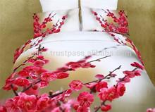 100% Cotton beding sets of 3pcs Bed Flat Sheet Duvet Cover Pillowcases 3d bedding set duvet
