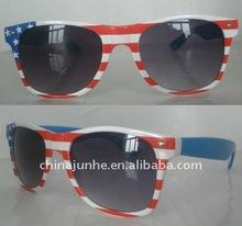 2012 fashion plastic sunglasses with flag