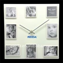 metal wall clock with photoframe RT4011