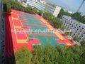 Chino de alta calidad y multi - propósito de enclavamiento pp colorido suspendido modulares de plástico auto-adhesivo de vinilo piso embaldosado