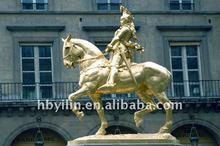 life size metal horse running sculpture