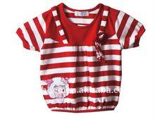 children's stripe fashion short T-shirt