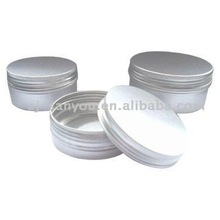 Cosmetic aluminum jar/tin/container with lid for cream and hair wax