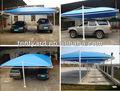 Azul del coche del PVC cobertizo para 2 coches