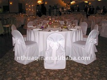 Polyester chair cover wedding banquet chair cover with organza sash