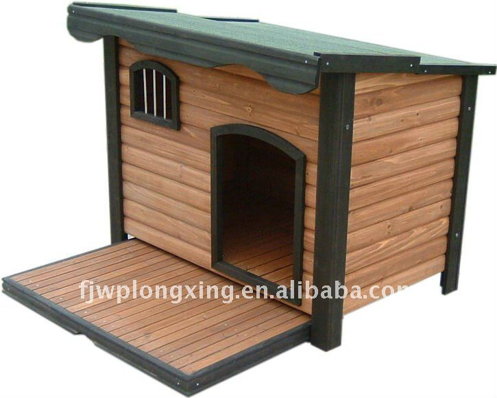 Wooden Dog Kennel For Christmas