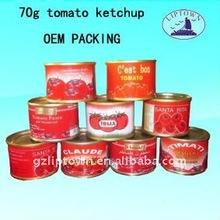 70 g conserve tomate ketchup marque se vendent bien en afrique