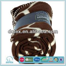 2014 Top Sale Microfiber Fleece With Sherpa Printed Blanket wholesale