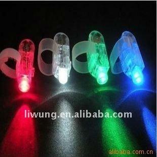 4 colors of Led laser beam finger lights