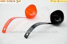 5 oz clear, red, black reusable PS plastic soup ladle