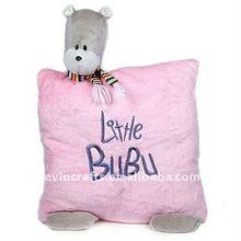 plush little pink bubu bear cushion
