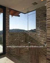 hinged bath shower screen