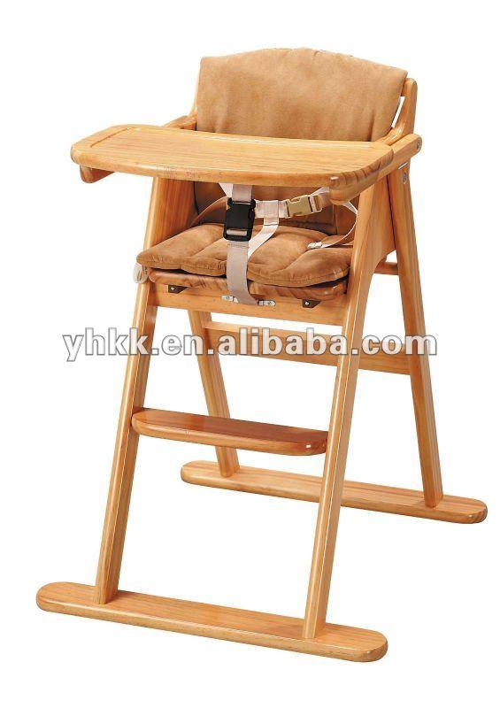 Sillas de madera para beb imagui for Silla de bebe de madera