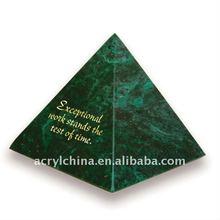Acrylic pyramid paperweights acrylic block pyramid