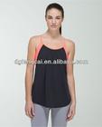 custom plain 95% cotton 5% spandex ladies yoga tank top