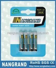 R03p carbon zinc um4 dry battery