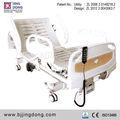Abs de plástico equipamiento hospitalario eléctrica giratoria de la cama con cuatro barandilla