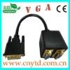 black dvi to av converter to 2 vga cable