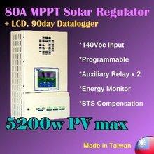 80A 12v 24v 48v MPPT solar charge controller solar regulator
