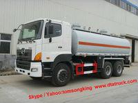 DTA Hino chemical tanker truck for HCI 32%,NaOH 32%,NaCl. NaClO etcTOM: 86-15271357675
