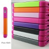 For iphone 4 Mobile Phone Case with Plastic TPU Silicone material