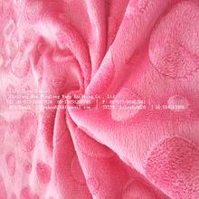 100% polyester super soft velboa/velvet/aloba warp knitting brushed home application/garment fabric