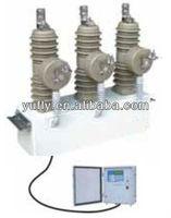 ZW43A-12 12kV 630A midium voltage 3 phase outdoor pole mounted AC vacuum circuit breaker with controller 12kV auto recloser