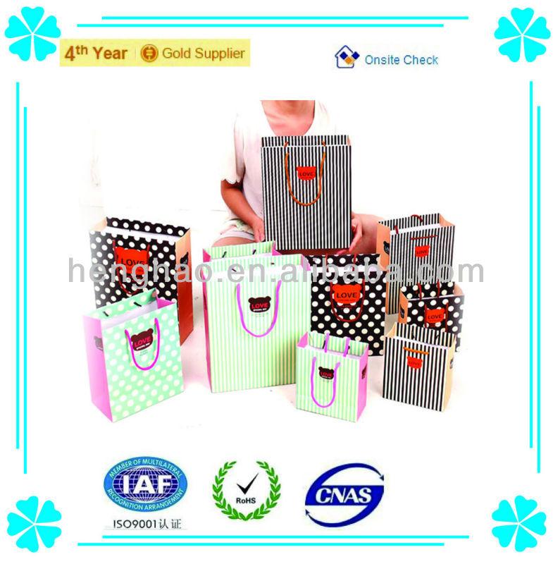 Hot sale paper bag & Paper shopping bag & luxury kraft paper shopping bag