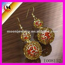 Earrings 2012 in 18k gold plating, earring stands wholesale jewelry