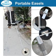 in stock 85*90*140(170)cm professional portable aluminium sketch easel box