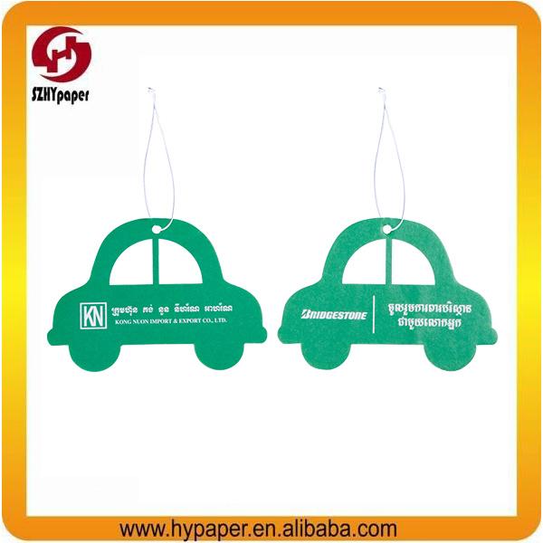 Custom paper car air freshener