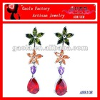 Cheap handmade flower shape clip-on earring accessories for ladies