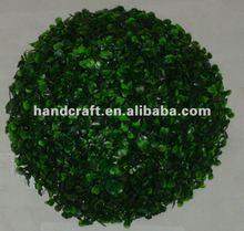 Artificial grass ball/plastic centre artificial flower ball