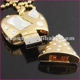2GB jewelry heart shape usb flash