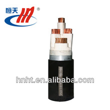 low voltage 3.5 G insulated PVC cable, Plastic jacketed power cable, four core 95mm2 copper conductor XLPE cable