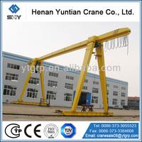 Single Beam Traveling Rails Gantry Crane With Cable Hoist