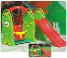 Plastic slide and swing for children's playground(KYM-5404)