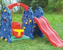 Hotsale plastic swing and slide set for children (KYM-5406)