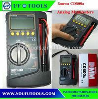 SANWA CD800a Mini DIGITAL Multimeter 3-3 / 4 DMM 4000 count /Super-thin DMM